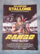Rambo:First Blood,Vintage French Movie Poster,Sylvester Stallone,'82